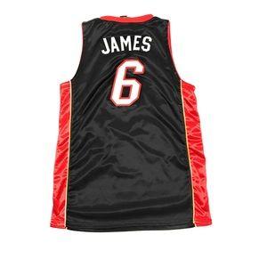 more photos 82a02 f430c Lebron James Miami Heat Adidas Sewn NBA Jersey